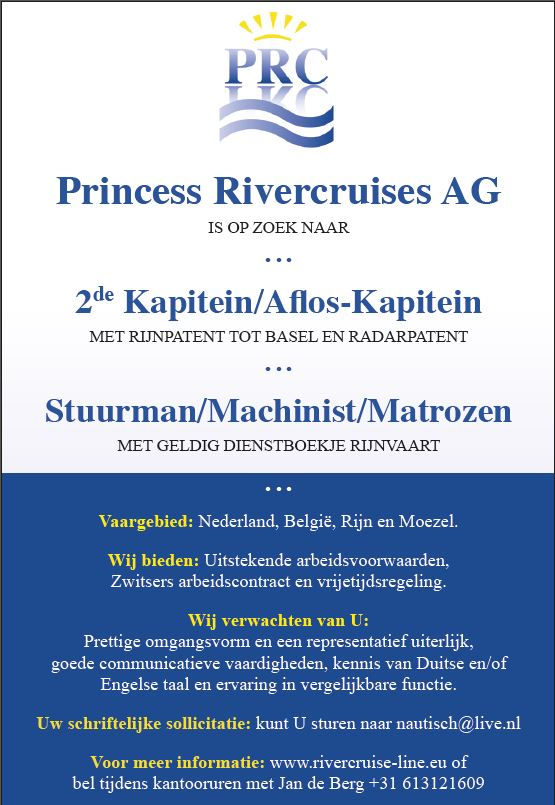 vacature Princes River Cruises